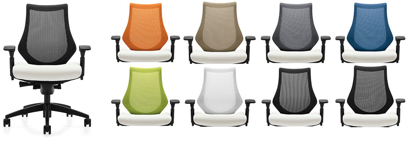 Global's Spree task chairs available in 8 different mesh colors and service as another great way to bring in color!